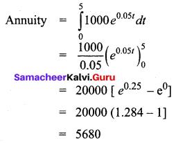 Samacheer Kalvi 12th Business Maths Solutions Chapter 3 Integral Calculus II Ex 3.2 Q5