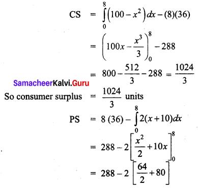Samacheer Kalvi 12th Business Maths Solutions Chapter 3 Integral Calculus II Ex 3.3 Q10