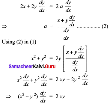 Samacheer Kalvi 12th Business Maths Solutions Chapter 4 Differential Equations Ex 4.1 Q6.1