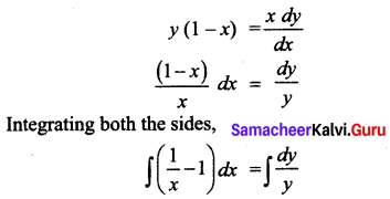 Samacheer Kalvi 12th Business Maths Solutions Chapter 4 Differential Equations Ex 4.2 Q2