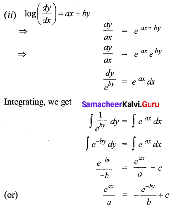 Samacheer Kalvi 12th Business Maths Solutions Chapter 4 Differential Equations Ex 4.2 Q6