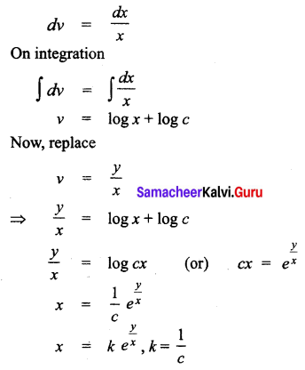 Samacheer Kalvi 12th Business Maths Solutions Chapter 4 Differential Equations Ex 4.3 Q1.1