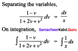 Samacheer Kalvi 12th Business Maths Solutions Chapter 4 Differential Equations Ex 4.3 Q2.1