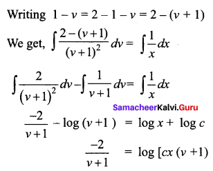 Samacheer Kalvi 12th Business Maths Solutions Chapter 4 Differential Equations Ex 4.3 Q2.2