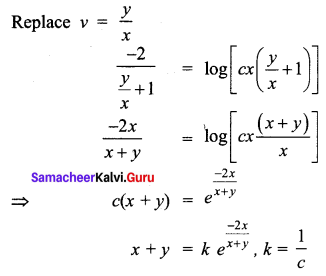 Samacheer Kalvi 12th Business Maths Solutions Chapter 4 Differential Equations Ex 4.3 Q2.3