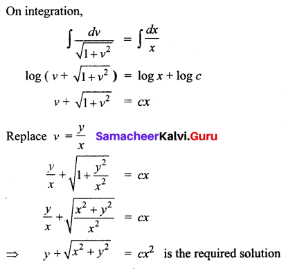 Samacheer Kalvi 12th Business Maths Solutions Chapter 4 Differential Equations Ex 4.3 Q3.1
