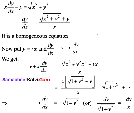 Samacheer Kalvi 12th Business Maths Solutions Chapter 4 Differential Equations Ex 4.3 Q3