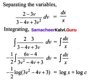 Samacheer Kalvi 12th Business Maths Solutions Chapter 4 Differential Equations Ex 4.3 Q4.1