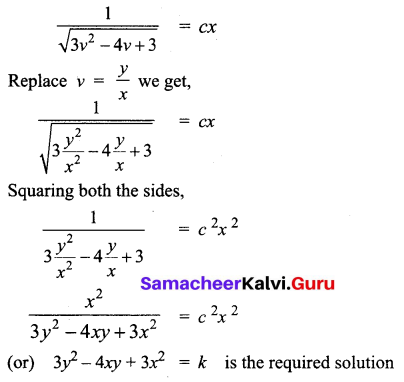 Samacheer Kalvi 12th Business Maths Solutions Chapter 4 Differential Equations Ex 4.3 Q4.2