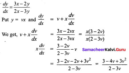 Samacheer Kalvi 12th Business Maths Solutions Chapter 4 Differential Equations Ex 4.3 Q4