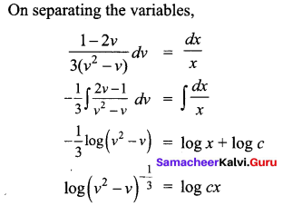 Samacheer Kalvi 12th Business Maths Solutions Chapter 4 Differential Equations Ex 4.3 Q5.1