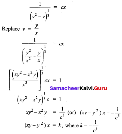 Samacheer Kalvi 12th Business Maths Solutions Chapter 4 Differential Equations Ex 4.3 Q5.2