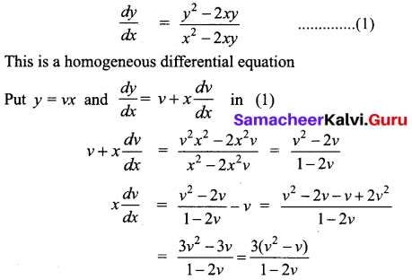 Samacheer Kalvi 12th Business Maths Solutions Chapter 4 Differential Equations Ex 4.3 Q5