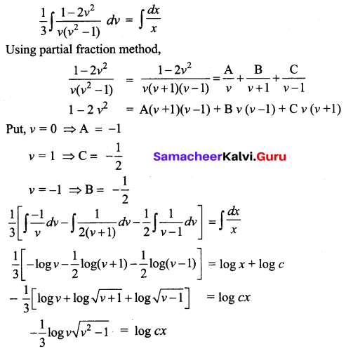 Samacheer Kalvi 12th Business Maths Solutions Chapter 4 Differential Equations Ex 4.3 Q6.1
