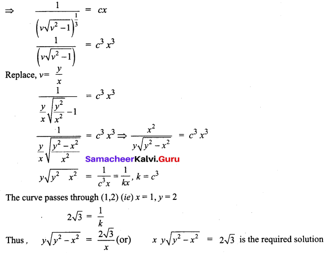 Samacheer Kalvi 12th Business Maths Solutions Chapter 4 Differential Equations Ex 4.3 Q6.2