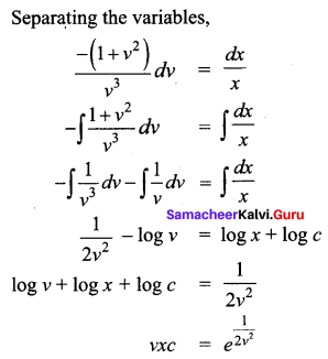 Samacheer Kalvi 12th Business Maths Solutions Chapter 4 Differential Equations Ex 4.3 Q7.1