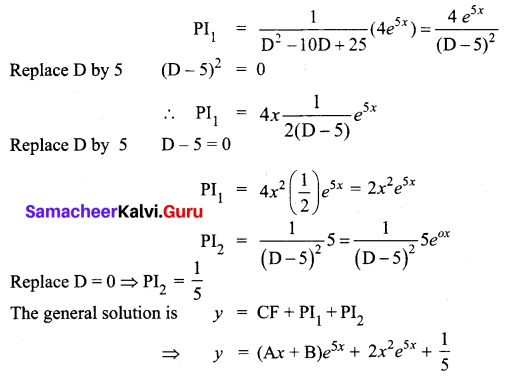 Samacheer Kalvi 12th Business Maths Solutions Chapter 4 Differential Equations Ex 4.5 Q10