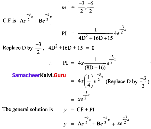 Samacheer Kalvi 12th Business Maths Solutions Chapter 4 Differential Equations Ex 4.5 Q11