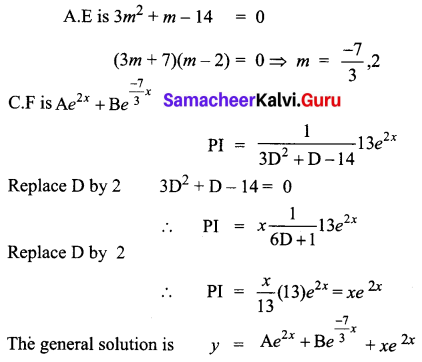 Samacheer Kalvi 12th Business Maths Solutions Chapter 4 Differential Equations Ex 4.5 Q12