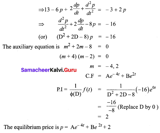 Samacheer Kalvi 12th Business Maths Solutions Chapter 4 Differential Equations Ex 4.5 Q13
