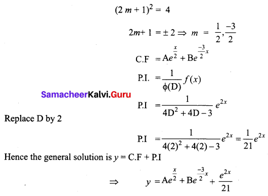 Samacheer Kalvi 12th Business Maths Solutions Chapter 4 Differential Equations Ex 4.5 Q6