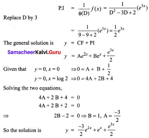 Samacheer Kalvi 12th Business Maths Solutions Chapter 4 Differential Equations Ex 4.5 Q8