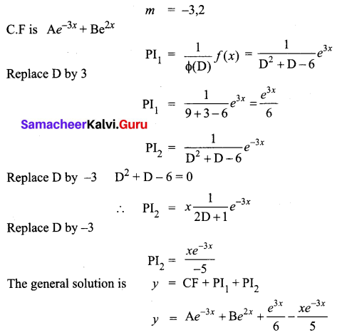Samacheer Kalvi 12th Business Maths Solutions Chapter 4 Differential Equations Ex 4.5 Q9