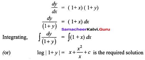 Samacheer Kalvi 12th Business Maths Solutions Chapter 4 Differential Equations Miscellaneous Problems Q10