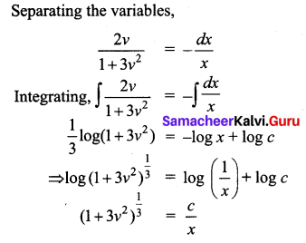 Samacheer Kalvi 12th Business Maths Solutions Chapter 4 Differential Equations Miscellaneous Problems Q4.1