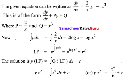 Samacheer Kalvi 12th Business Maths Solutions Chapter 4 Differential Equations Miscellaneous Problems Q5