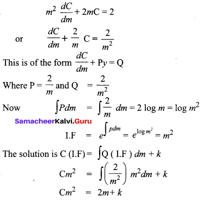 Samacheer Kalvi 12th Business Maths Solutions Chapter 4 Differential Equations Miscellaneous Problems Q6