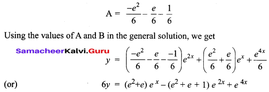 Samacheer Kalvi 12th Business Maths Solutions Chapter 4 Differential Equations Miscellaneous Problems Q7.2