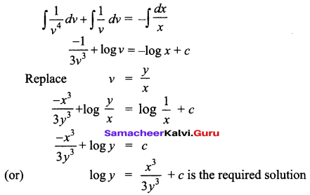 Samacheer Kalvi 12th Business Maths Solutions Chapter 4 Differential Equations Miscellaneous Problems Q9.1