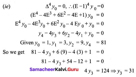 Samacheer Kalvi 12th Business Maths Solutions Chapter 5 Numerical Methods Ex 5.1 Q6.1