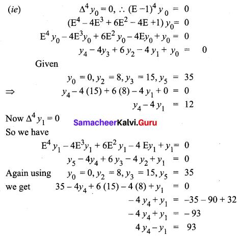 Samacheer Kalvi 12th Business Maths Solutions Chapter 5 Numerical Methods Ex 5.1 Q8.1