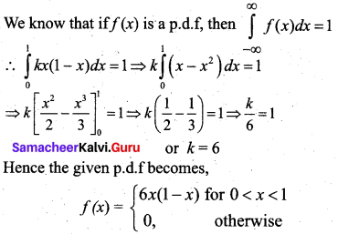 Samacheer Kalvi 12th Business Maths Solutions Chapter 6 Random Variable and Mathematical Expectation Additional Problems III Q2.1