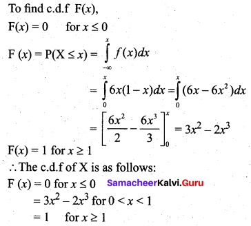Samacheer Kalvi 12th Business Maths Solutions Chapter 6 Random Variable and Mathematical Expectation Additional Problems III Q2.2