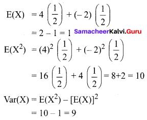 Samacheer Kalvi 12th Business Maths Solutions Chapter 6 Random Variable and Mathematical Expectation Ex 6.2 Q14.1