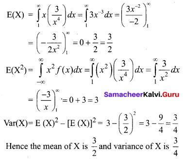 Samacheer Kalvi 12th Business Maths Solutions Chapter 6 Random Variable and Mathematical Expectation Ex 6.2 Q5.1
