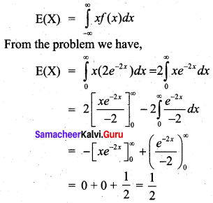 Samacheer Kalvi 12th Business Maths Solutions Chapter 6 Random Variable and Mathematical Expectation Miscellaneous Problems Q10.1