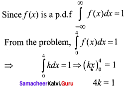 Samacheer Kalvi 12th Business Maths Solutions Chapter 6 Random Variable and Mathematical Expectation Miscellaneous Problems Q3.1