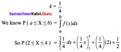 Samacheer Kalvi 12th Business Maths Solutions Chapter 6 Random Variable and Mathematical Expectation Miscellaneous Problems Q3.2