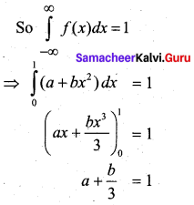 Samacheer Kalvi 12th Business Maths Solutions Chapter 6 Random Variable and Mathematical Expectation Miscellaneous Problems Q5.1