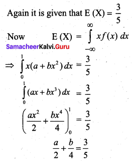 Samacheer Kalvi 12th Business Maths Solutions Chapter 6 Random Variable and Mathematical Expectation Miscellaneous Problems Q5.2