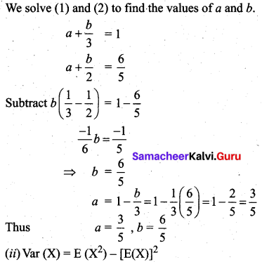 Samacheer Kalvi 12th Business Maths Solutions Chapter 6 Random Variable and Mathematical Expectation Miscellaneous Problems Q5.3