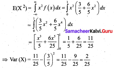 Samacheer Kalvi 12th Business Maths Solutions Chapter 6 Random Variable and Mathematical Expectation Miscellaneous Problems Q5.4