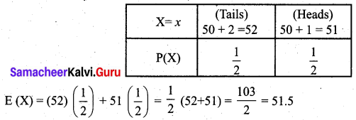 Samacheer Kalvi 12th Business Maths Solutions Chapter 6 Random Variable and Mathematical Expectation Miscellaneous Problems Q7