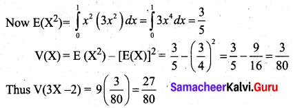 Samacheer Kalvi 12th Business Maths Solutions Chapter 6 Random Variable and Mathematical Expectation Miscellaneous Problems Q9.2