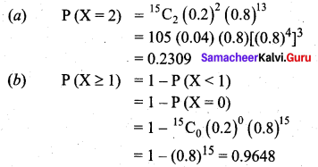 Samacheer Kalvi 12th Business Maths Solutions Chapter 7 Probability Distributions Additional Problems III Q4