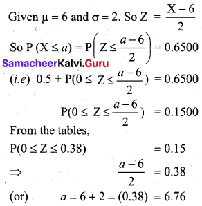 Samacheer Kalvi 12th Business Maths Solutions Chapter 7 Probability Distributions Additional Problems III Q7